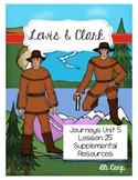 Journeys Grade 5 Lesson 25: Lewis & Clark Reading Supplemental Resources