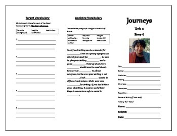 Journeys Grade 5 Trifold (Poetry about Poetry)