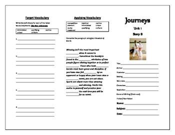 Journeys Grade 5 Trifold (Score)