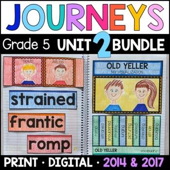 Journeys Grade 5 Unit 2 BUNDLE: Supplemental Materials wit
