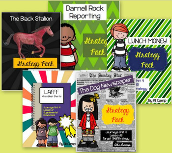 Journeys Grade 5 Unit 4 Reading Target Strategy/Skill Bundle