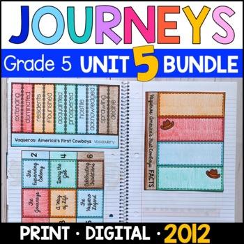Journeys Grade 5 Unit 5 BUNDLE: Supplemental & Interactive