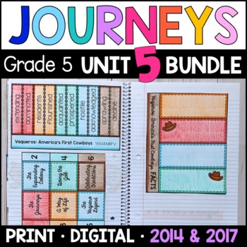 Journeys Grade 5 Unit 5 BUNDLE: Supplemental Materials wit