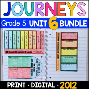 Journeys Grade 5 Unit 6 BUNDLE: Supplemental & Interactive