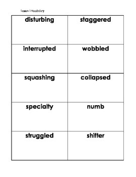 Journeys Grade 5 Vocabulary Cards