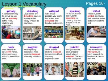 Journeys, Grade 5, Vocabulary in Context, Unit 1