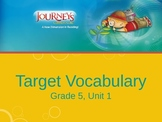 Journeys, Grade 5, Vocabulary in Context, Unit 1