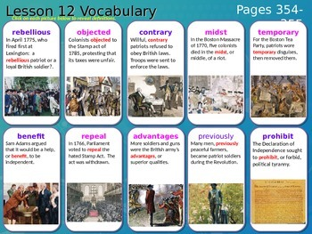 Journeys, Grade 5, Vocabulary in Context, Unit 3