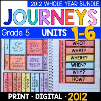 Journeys Grade 5 WHOLE YEAR BUNDLE: Interactive Supplements 2011/2012