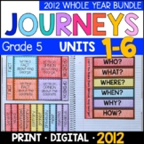 Journeys 2012 5th Grade WHOLE YEAR BUNDLE: Supplements with GOOGLE Classroom