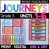Journeys Grade 5 WHOLE YEAR BUNDLE: Interactive Supplements 2014/2017