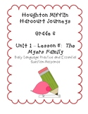 Journeys Grade 6 Daily Language Practice and EQ  - The Myers Family