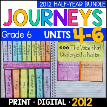 Journeys Grade 6 HALF-YEAR BUNDLE 2011/2012: Units 4-6 (Interactive Supplements)