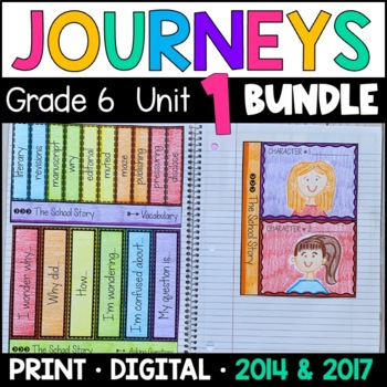 Journeys Grade 6 Unit 1 BUNDLE: Supplemental Materials with Interactive Pages