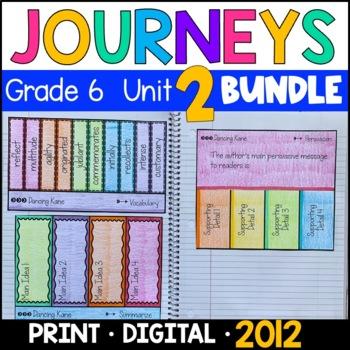 Journeys Grade 6 Unit 2 BUNDLE 2011/2012: Supplemental & Interactive Pages