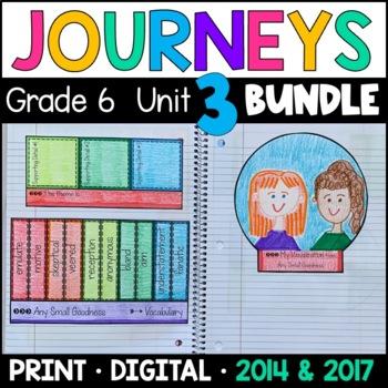 Journeys Grade 6 Unit 3 BUNDLE: Supplemental Materials wit