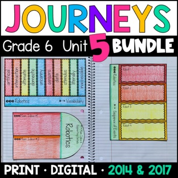 Journeys Grade 6 Unit 5 BUNDLE: Supplemental Materials with Interactive Pages