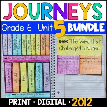 Journeys Grade 6 Unit 5 BUNDLE 2011/2012: Supplemental & Interactive Pages