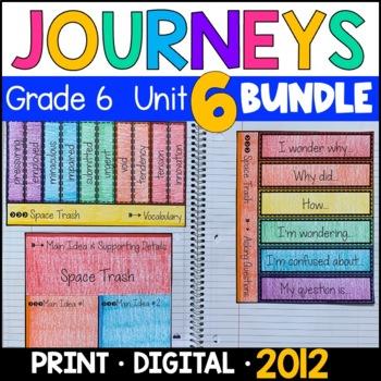 Journeys Grade 6 Unit 6 BUNDLE 2011/2012: Supplemental & Interactive Pages