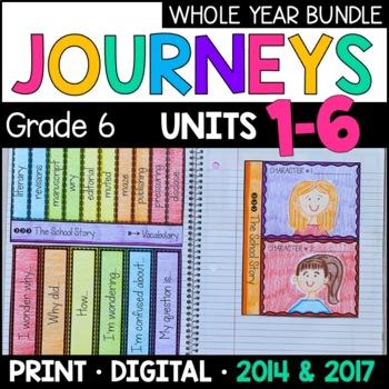 Journeys Grade 6 WHOLE YEAR BUNDLE: Interactive Supplements 2014/2017