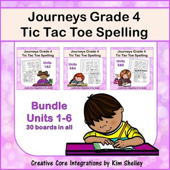 Journeys Grade 4 Spelling Tic Tac Toe