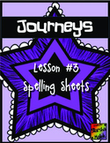 Journeys First Grade Lesson 3 Spelling
