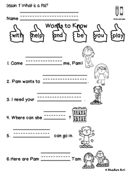 Journeys Grade One Supplemental Lesson 1 What is A Pal?