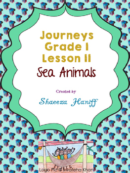 Journeys Grade One Supplemental Lesson 11 - Sea Animals