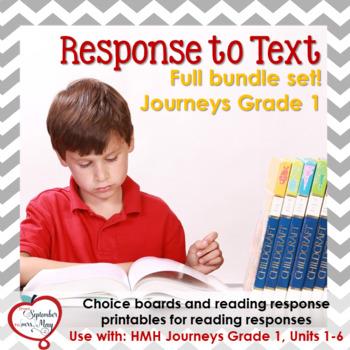 Journeys Grade One, Units 1-6: Response to Text Bundle