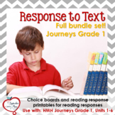 Journeys Grade One, Units 1-6: Response to Text Bundle