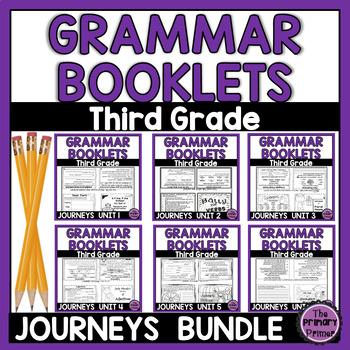 Journeys THIRD Grade Grammar Mini Books: The BUNDLE Units 1-6