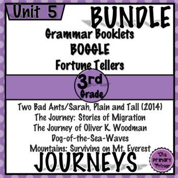 Journeys THIRD Grade: Unit FIVE Bundle