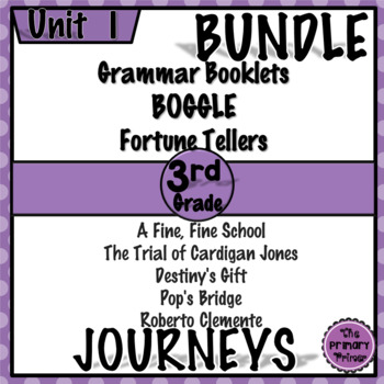 Journeys THIRD Grade: Unit ONE Bundle