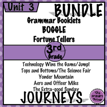 Journeys THIRD Grade: Unit THREE Bundle