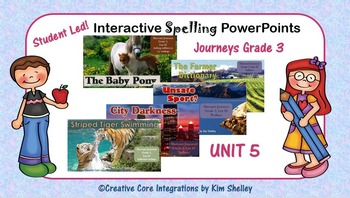 Journeys Grade Three Interactive Spelling PPT FULL YEAR BUNDLE
