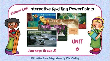 Journeys Grade Three Interactive Spelling PPT FULL YEAR BUNDLE