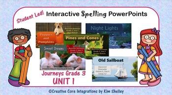 Journeys Grade Three Interactive Spelling Unit One