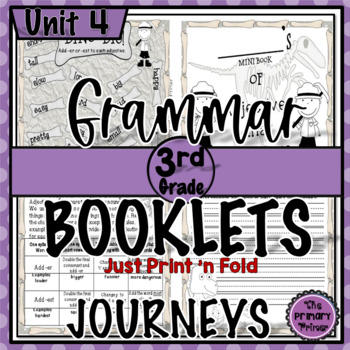 Journeys THIRD Grade: Unit FOUR Grammar Mini Books
