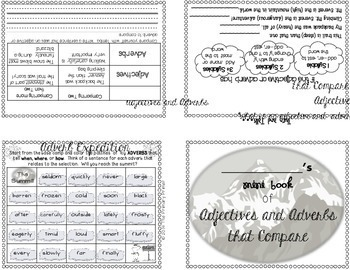 Journeys THIRD Grade Grammar Mini Books:  Unit FIVE