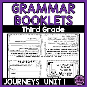 Journeys THIRD Grade Grammar Mini Books: Unit ONE