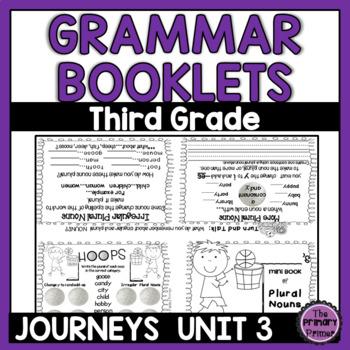 Journeys THIRD Grade Grammar Mini Books: Unit THREE