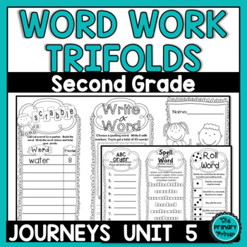 Journeys Grade Two: Word Work Spelling Trifolds   {Unit FIVE}