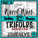 Journeys SECOND Grade Word Work Spelling Tri-folds: Unit FOUR