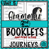 Journeys SECOND Grade Grammar Mini Books:  Unit FIVE