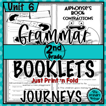 Journeys SECOND Grade Grammar Mini Books: Unit SIX