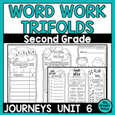 Journeys SECOND Grade Word Work Spelling Tri-folds: Unit SIX