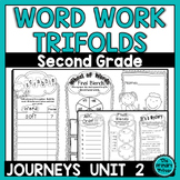 Journeys SECOND Grade Word Work Spelling Trifolds: Unit TWO