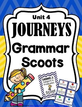 JOURNEYS Grammar SCOOTS or Task Cards - Second Grade Unit 4
