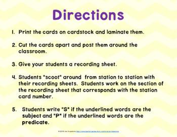 JOURNEYS Grammar SCOOTS or Task Cards- Second Grade Unit 1