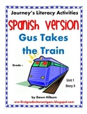 Journeys® Gus Takes the Train *SPANISH*  Literacy Activities - Grade 1